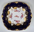 Antique English Cobalt Blue Serving Platter