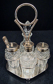 Antique English Plated Condiment Set
