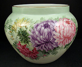 Huge Antique B&C Limoges Jardini�re, Chrysanthemums