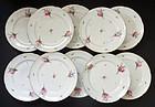 10 Rare Antique Niderviller Porcelain Plates