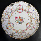 Gorgeous Antique Hirsch Reticulated Round Platter C