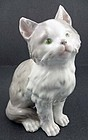 Adorable Antique Heubach Kitten Figurine