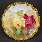 Antique Theodore Haviland Limoges Bowl, Roses