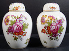 Antique Pair of E. Claus Paris Covered Vases