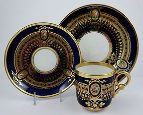 Antique English 3 Piece Coffee Cup, Saucer & Plate