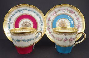 Antique Haviland Limoges Demitasse Cup & Saucer, A & B