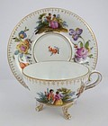 Unique Antique Thieme Dresden Scenic Tea Cup & Saucer