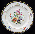 Beautiful Meissen Dinner Plate with Cobalt Border