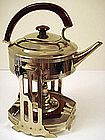 Arts & Crafts Chrome Kettle on Stand