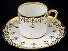 Jeweled Spode Copeland Demitasse Cup &Saucer