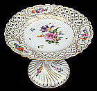 Beautiful Meissen Reticulated Compote