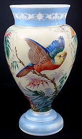 Victorian French Opaline Glass Vase