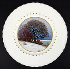 "Art Nouveau KPM Scenic Plate ""Winter"""