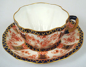 Elegant Antique Royal Crown Derby Tea Cup & Saucer