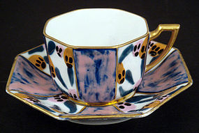 Art Deco Tharaud Limoges Tea Cup & Saucer