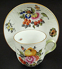 "Charming Herend ""Fruits & Flowers"" Demitasse Cup & Sauc"
