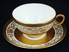 Elegant Antique Cauldon Tea Cup & Saucer