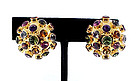 H. Stern 18K Gold Sputnik Multi-Gem Earrings