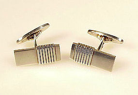 Georg Jensen Art Deco Sterling Silver Cufflinks