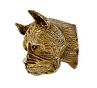 Ballou Sterling Silver Boxer Dog Brooch