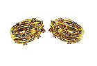 Tiffany & Co. 18K Gold & Diamond Earrings