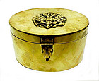 Imperial Russian Brass Romanov Double Eagle Tea Caddy