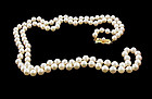 "Mikimoto 32"" Opera Length 6x6.5mm Pearl Strand Necklace"