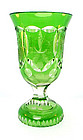 Bohemian Biedermeier Cut & Engraved Glass Spa Beaker
