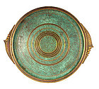 Arts & Crafts Carl Sorensen Round Bronze Cocktail Tray