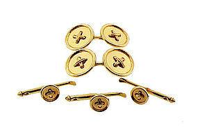 Tiffany & Co. 14K Yellow Gold Button Dress Set