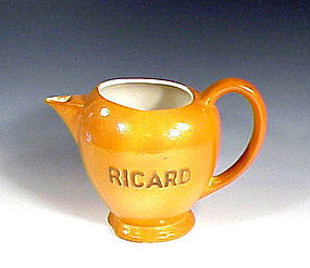French Art Deco Porcelain Ricard Water Jug