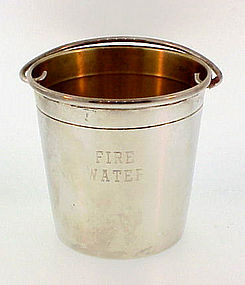 Vintage Sterling Silver �Fire Water� Fire Bucket Jigger