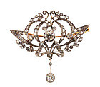 Edwardian Platinum & Diamond Convertible Pendant Brooch