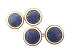 Early David-Anderson Art Deco Enameled Silver Cufflinks