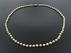 Edwardian Natural Pearl & Platinum Necklace