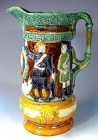 Sandford Pottery Majolica Crimean War Jug