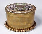 Imperial Russian Enameled Bronze Jewel Casket