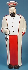 Art Deco German Porcelain Figural Decanter