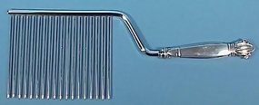 Art Deco Sterling Silver Cake Comb