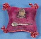 King George V Coronation Sterling Pin Cushion