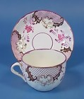 Pink Luster Transferware Cup & Saucer