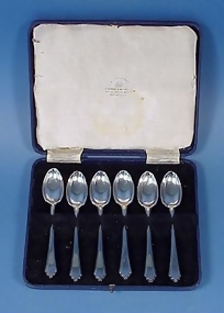 6 Mappin & Webb Sterling Demitasse Spoons