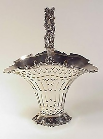 Victorian Frank W. Smith Sterling Silver Bride�s Basket