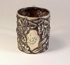 Whiting Sterling Silver Repousse Christening Cup