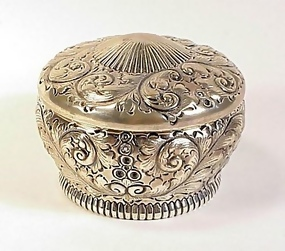 Gorham Victorian Sterling Silver Dresser Powder Box