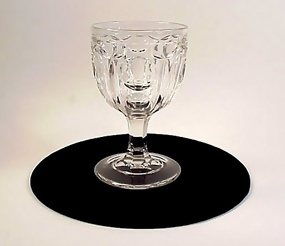 Early American Pattern Glass Flint WASHINGTON Goblet