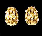 Tiffany & Co. 18K Gold & Diamond Clip Earrings