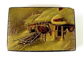 Imperial Russian Vishniakov Lacquer Box