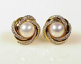 en mikimoto pe index earrings pierced jewelry pearl