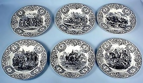 6 19th Cent. Emperor Napoleon Transfer Plates